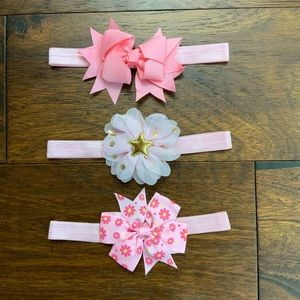 Other - 🎀Baby Girls Headband/Bows🎀 3 for $7